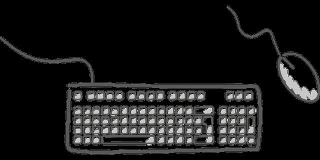 マウスとキーボードの絵